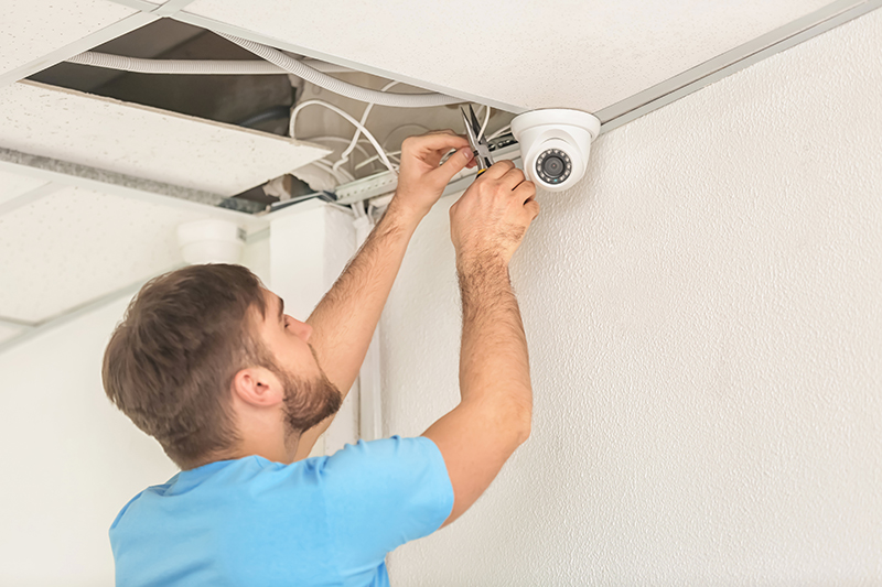 installing security camera at block of flats
